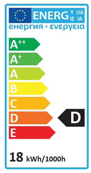 Energy Label D 18w
